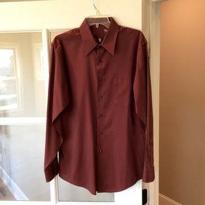 Long Sleeve Shirt Button Down Mens L 16.5 34/35